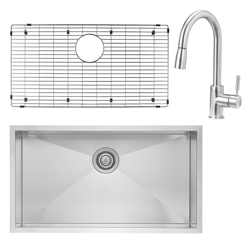 Blanco Quatrus 18-In X 32-In Kitchen Sink Kit