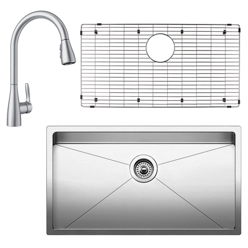 Blanco Quatrus 18-In X 32-In Kitchen Sink Kit