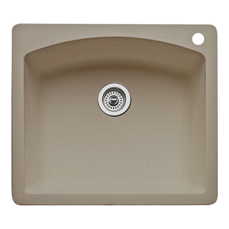 Blanco Diamond 22-In X 25-In Single-Basin Granite Multi-Mount 1-Hole Kitchen Sink