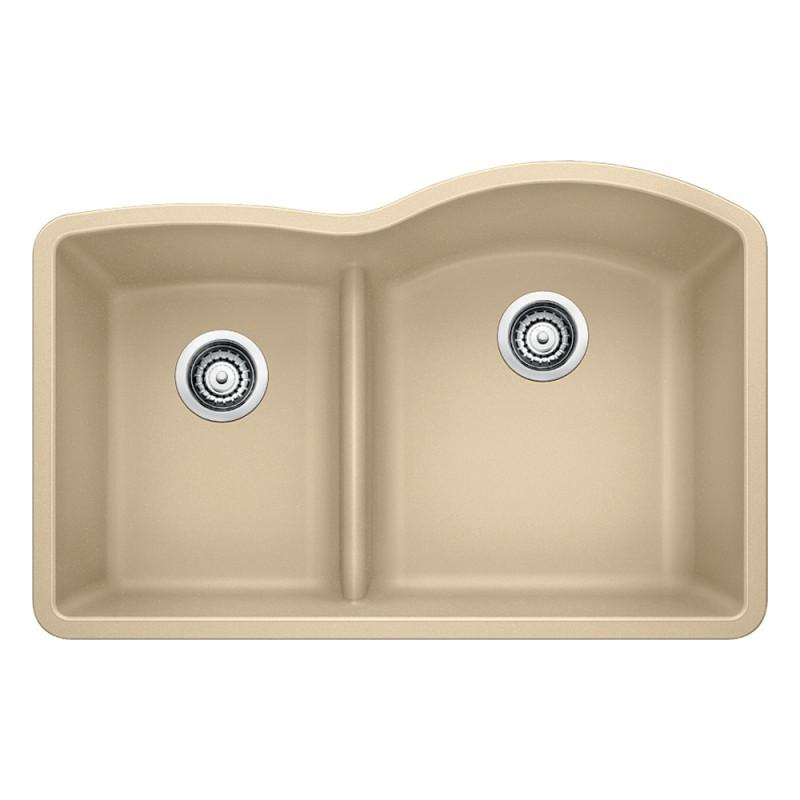 Blanco Diamond 32-In X 20.875-In Double-Basin Granite Undermount Kitchen Sink