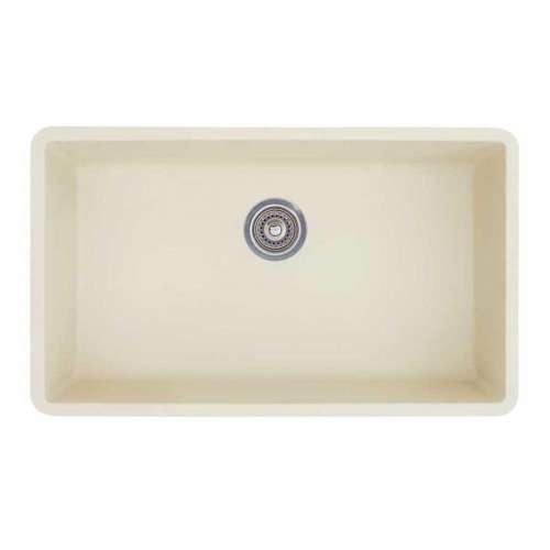 Blanco Precis Super Single Bowl Kitchen Sink in Biscuit