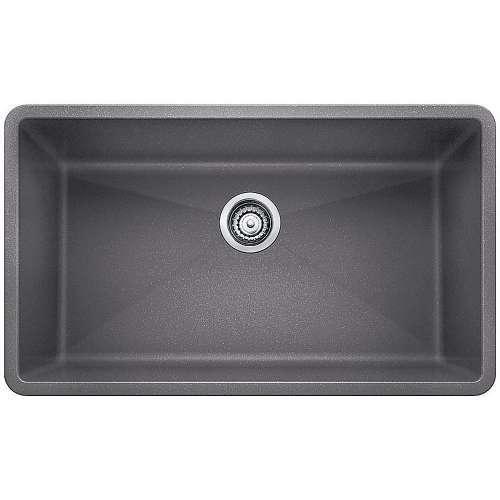 Blanco Precis Super Single Bowl Kitchen Sink in Metallic Gray