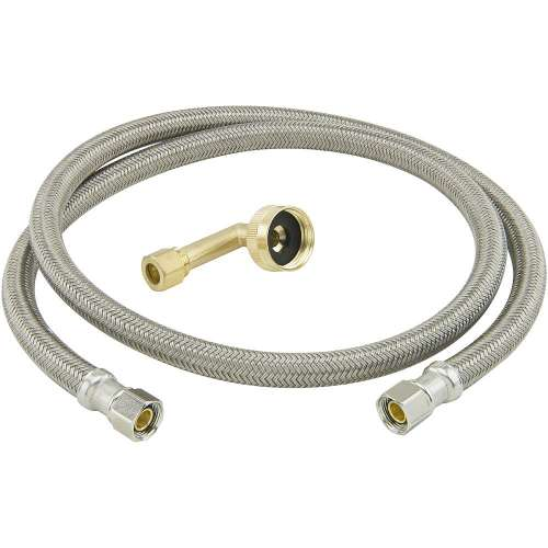 3/8 in. Comp x 3/8 in. Comp With 3/4 in. Garden Hose Elbow Braided Polymer Connector