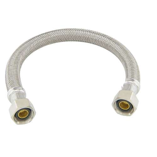 7/16 in. Comp x 1/2 in. FIP Braided Polymer Connector