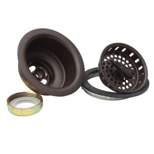 3-1/2 in. O.D. Wing Nut Locking Style Large Basket Strainer with Nuts & Washers - Brass