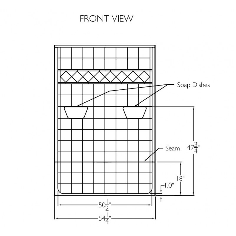 Comfort Designs 54in x 30in x 81in Shower Kit with Left/Right Drain