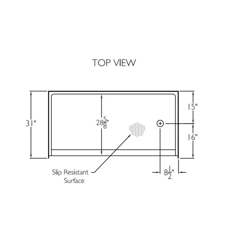 Comfort Designs 60in x 30in Shower Base with Left/Right Drain