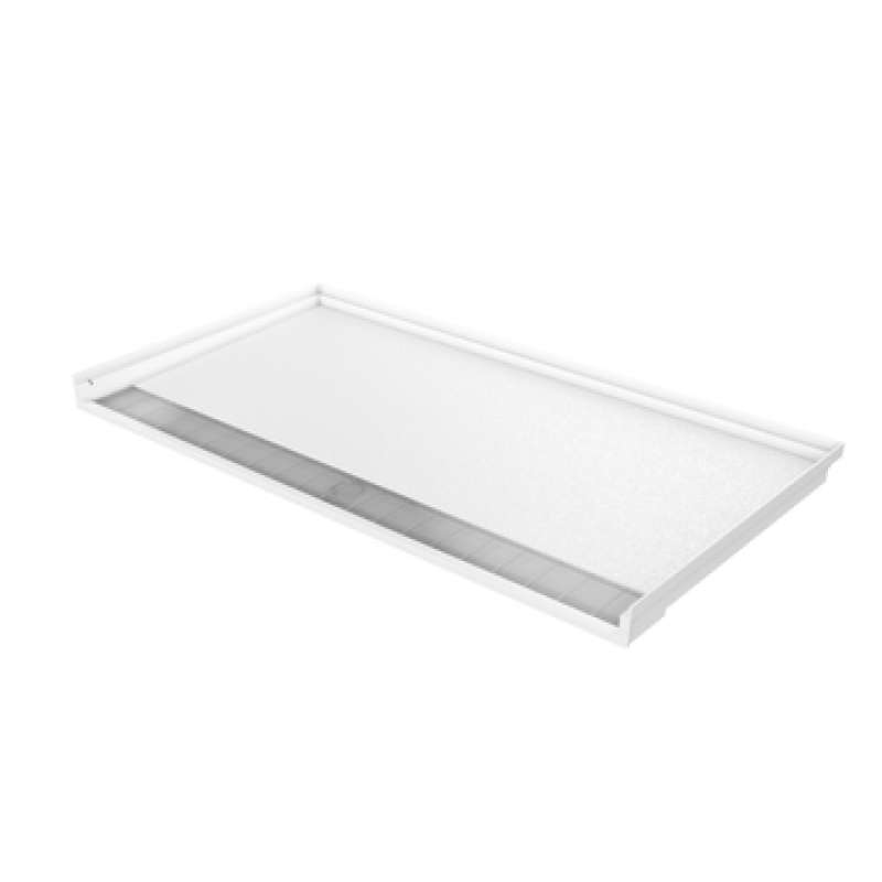 SWB6234TR.75 - Comfort Designs 60in x 32in Roll-In Shower Base with Trench Drain