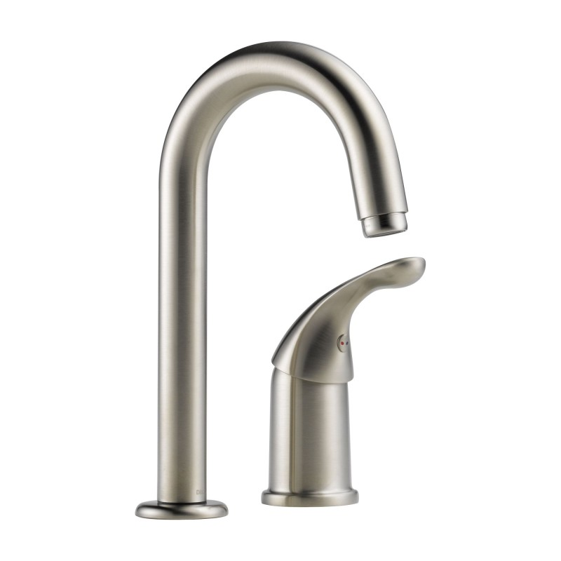 Delta Classic Single Handle Bar Faucet In Brilliance Stainless 1903