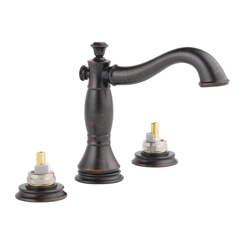 Delta Cassidy Wall Mounted Bathroom Faucet In Venetian Bronze 3597lf