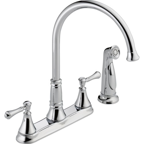 Delta Cassidy 2-Handle Kitchen Faucet With Spray