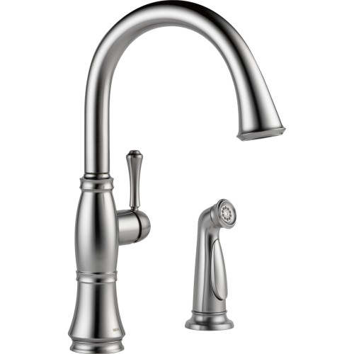 Delta Cassidy Single-Handle Kitchen Faucet With Spray
