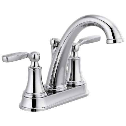 Delta Woodhurst Two Handle Lever Triple Hole 1.2-GPM Bathroom Faucet