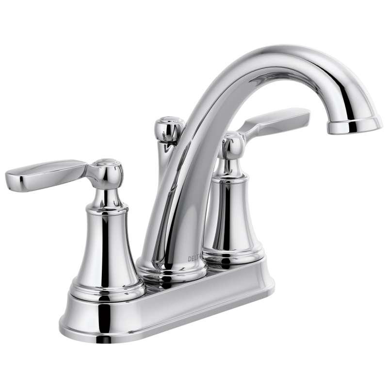 Delta Woodhurst Two Handle Lever Triple Hole 1.2-GPM Bathroom Faucet