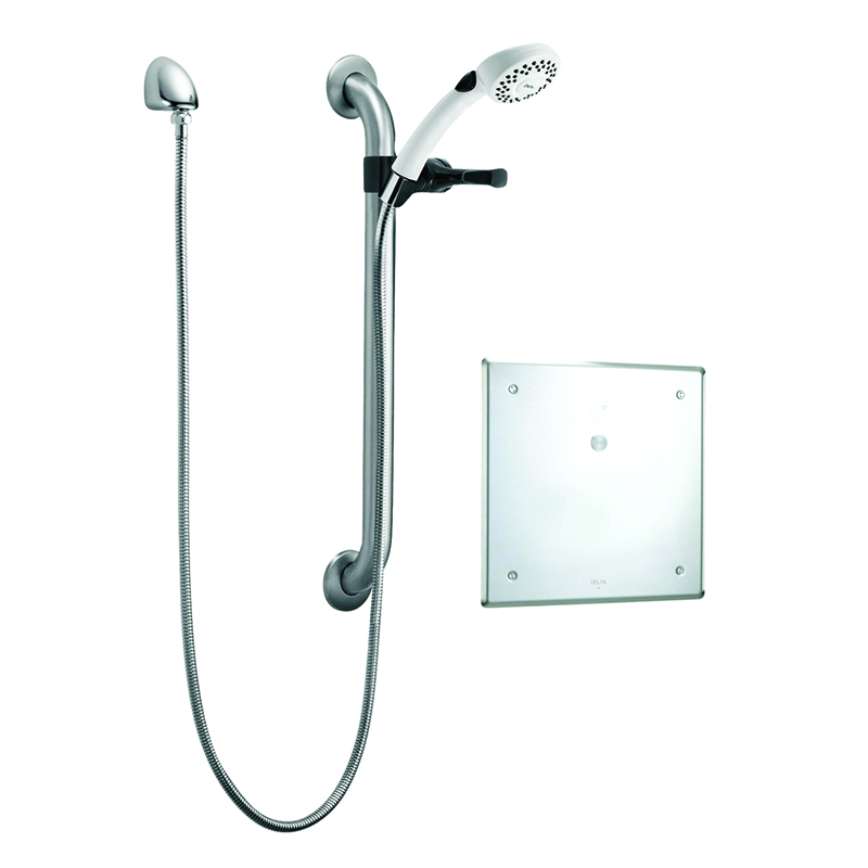 Delta Commercial Electronic Thermostatic Shower Trim With Hand Shower