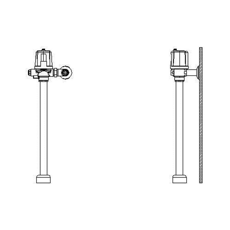 Delta 81/83T 1-1/2-In Top Spud Motion-Activated Flush Valve