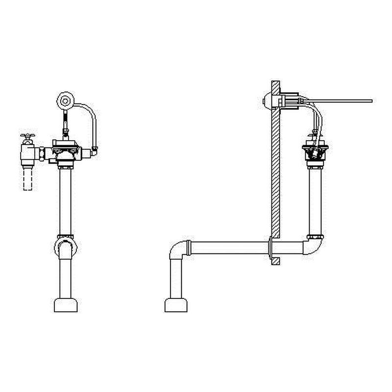 Delta Commercial Manual Top Spud Flush Valve