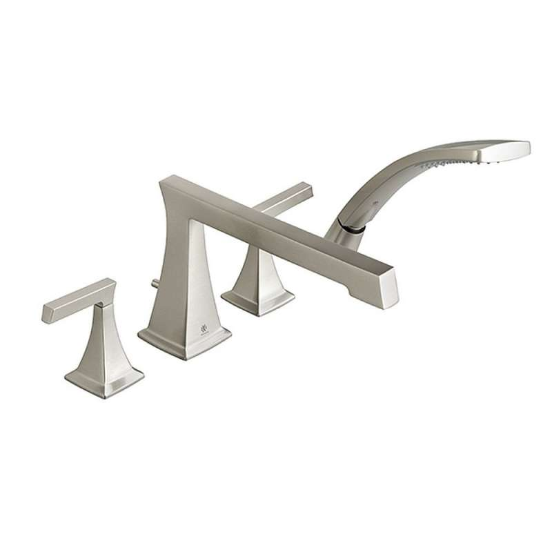 Buy Dxv Keefe Deck Mount Bathtub Faucet With Hand Shower In Brushed