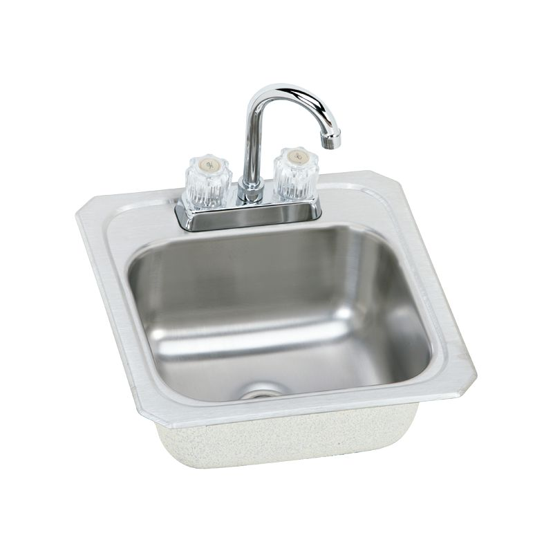 Elkay Gourmet Celebrity Stainless Steel Single-Bowl Top-Mount Sink With Faucet Kit