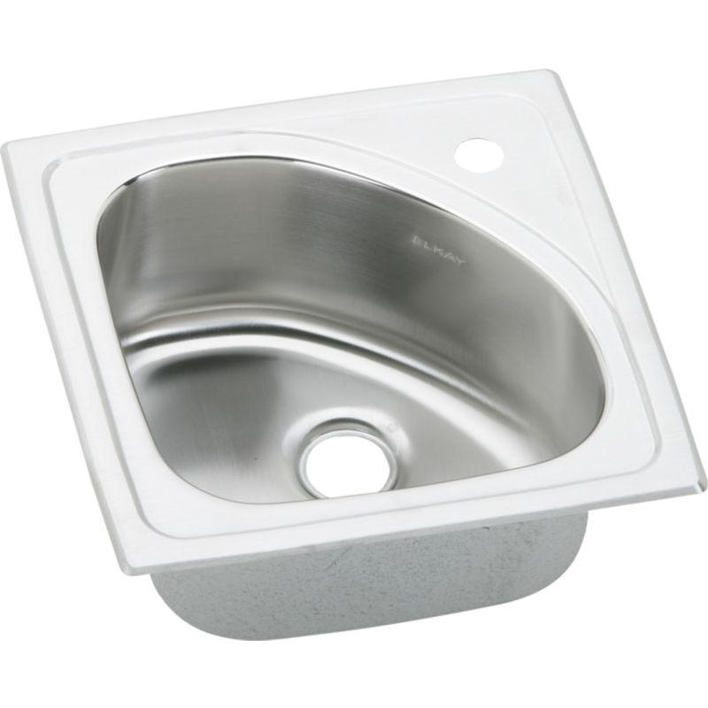 Elkay Harmony Lustertone Stainless Steel Single-Bowl Top-Mount Sink