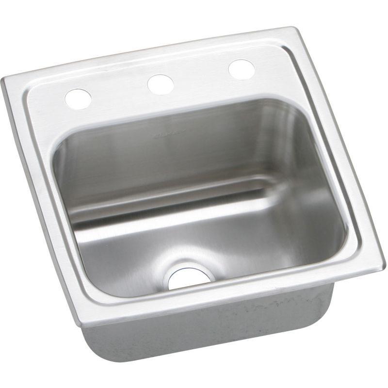 Elkay Pacemaker 15-In 20 Gauge Stainless Steel Single-Bowl Drop-In Bar Sink