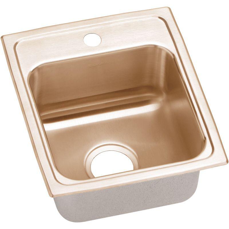 Elkay 13-In Copper 18 Gauge Single-Bowl Drop-In ADA Sink