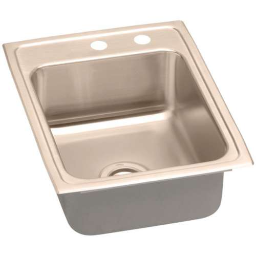 Elkay 17-In Copper 18 Gauge Single-Bowl Drop-In ADA Sink