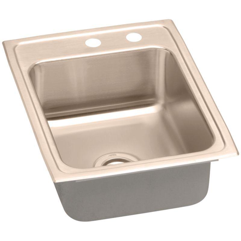 Elkay 17-In Copper 18 Gauge Single-Bowl Drop-In ADA Sink