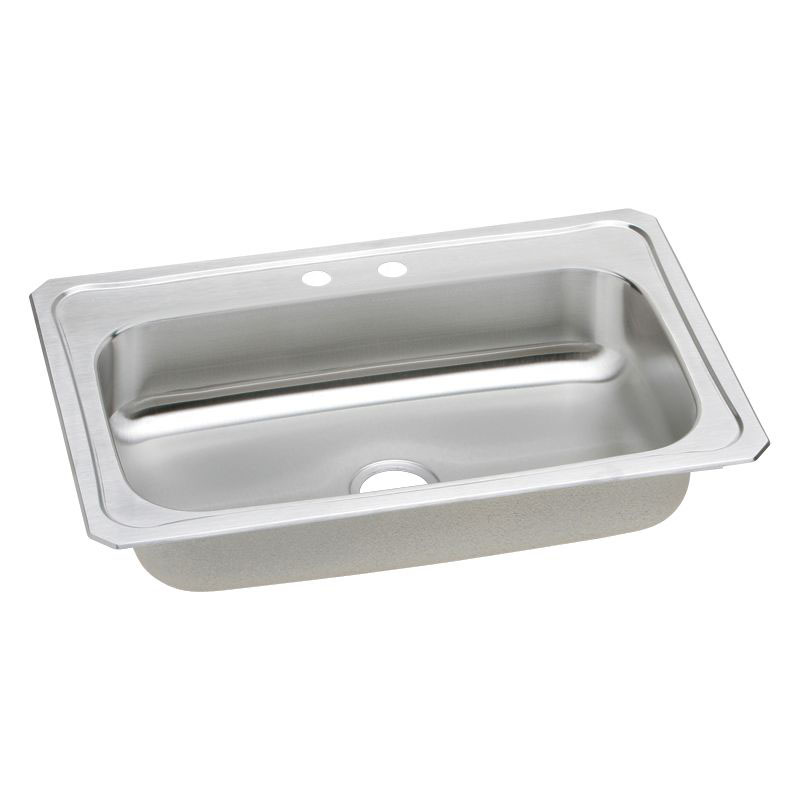 Elkay Celebrity 33-In 20 Gauge Stainless Steel Single-Bowl Drop-In Kitchen Sink