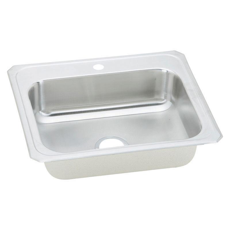 Elkay Celebrity 25-In 20 Gauge Stainless Steel Single-Bowl Drop-In Kitchen Sink