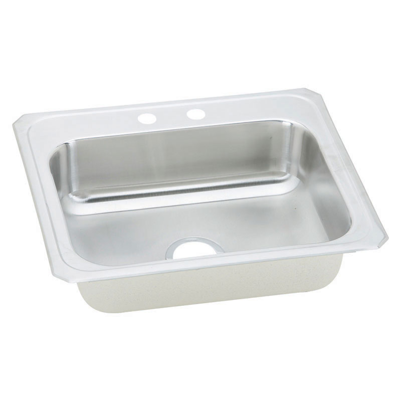 Elkay Celebrity 25-In 20 Gauge Stainless Steel Single-Bowl Drop-In Kitchen Sink