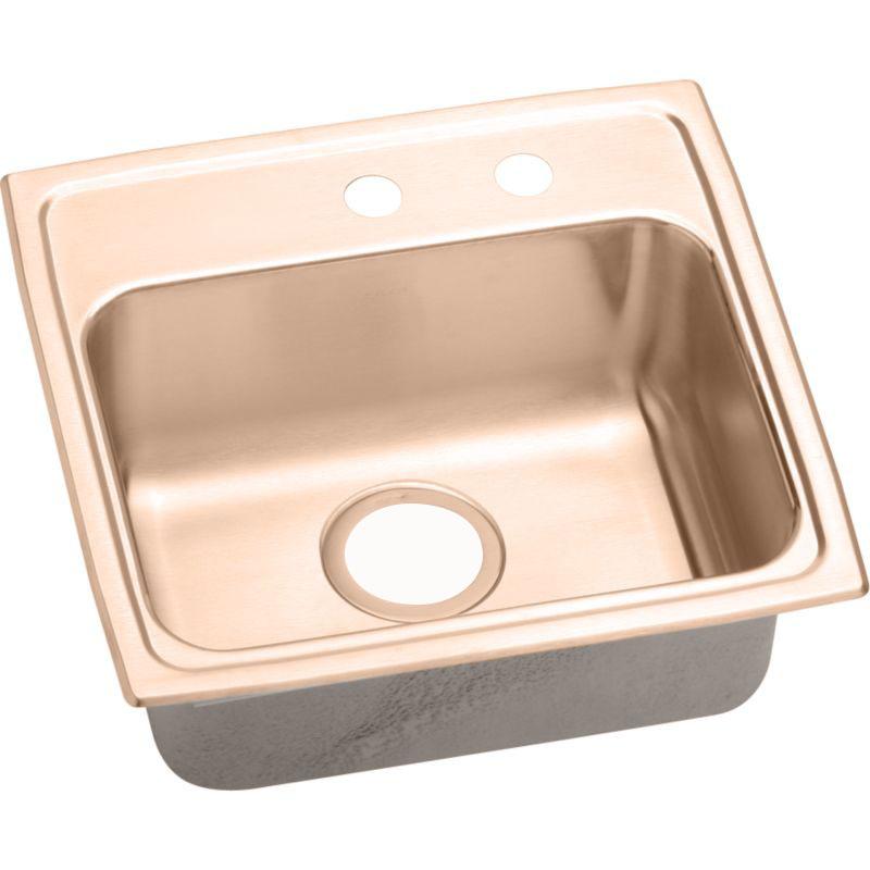Elkay 19-In Copper 18 Gauge Single-Bowl Drop-In ADA Sink