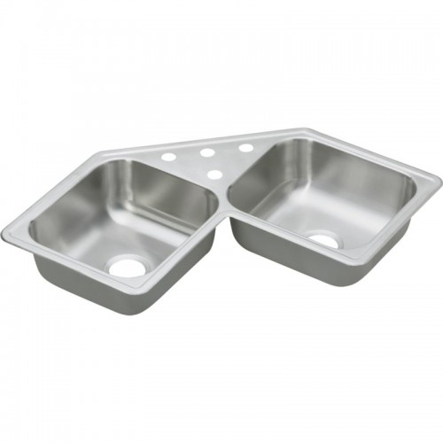 Dayton Elite 32-In Stainless Steel Double-Bowl Top-Mount Sink