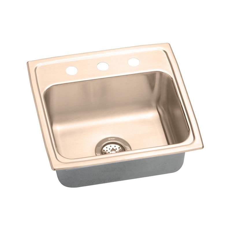 Elkay 19-1/2-In Copper 18 Gauge Single-Bowl Drop-In ADA Sink