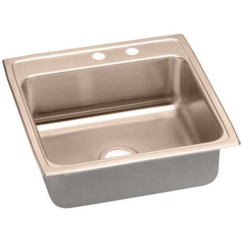 Elkay 22-In Copper 18 Gauge Single-Bowl Drop-In ADA Sink