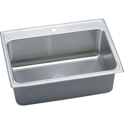 Elkay Lustertone Classic 31-In Stainless Steel 18 Gauge Single-Bowl Drop-In Sink