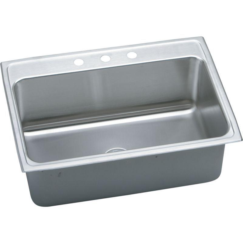 Elkay Lustertone Classic 31-In Stainless Steel 18 Gauge Single-Bowl Drop-In Sink