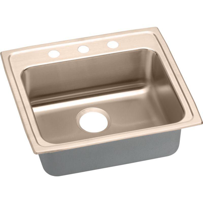 Elkay 25-In Copper 18 Gauge Single-Bowl Drop-In ADA Sink