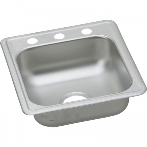 Dayton Classic 19-In Stainless Steel Single-Bowl Top-Mount Bar Sink