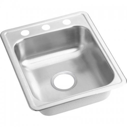 Dayton Classic 21.25-In Stainless Steel Single-Bowl Top-Mount Bar Sink