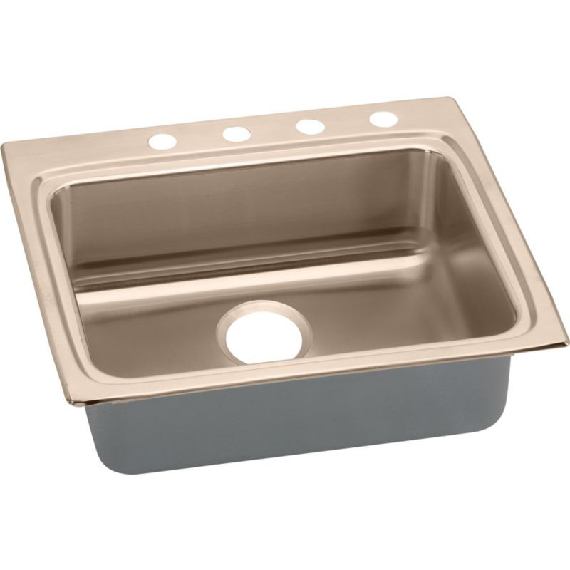 Elkay 25-In Copper 18 Gauge Single-Bowl Drop-In ADA Sink