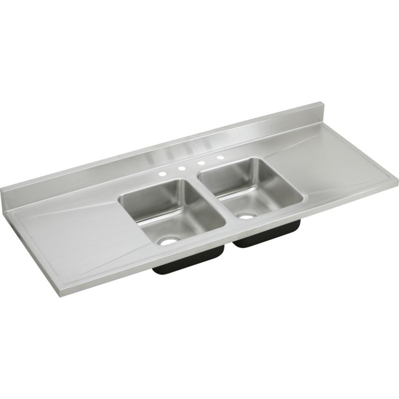 Elkay Lustrous Satin Stainless Steel Double-Bowl Sink Top Sink