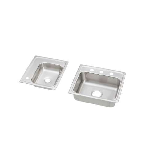 Elkay Lustertone Stainless Steel Double-Bowl Top-Mount Sink