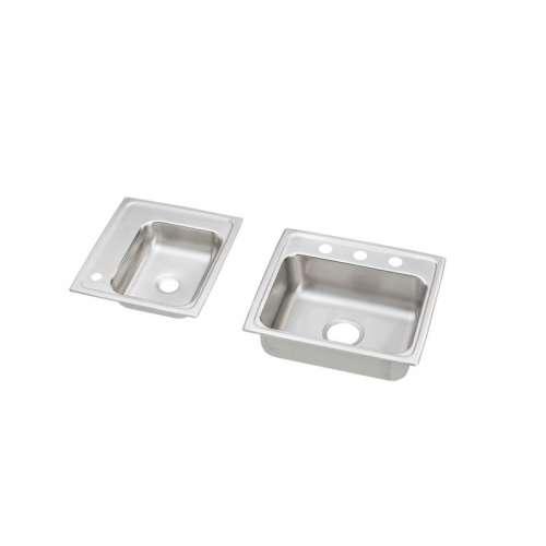 Elkay Lustertone Stainless Steel Double-Bowl Top-Mount Sink