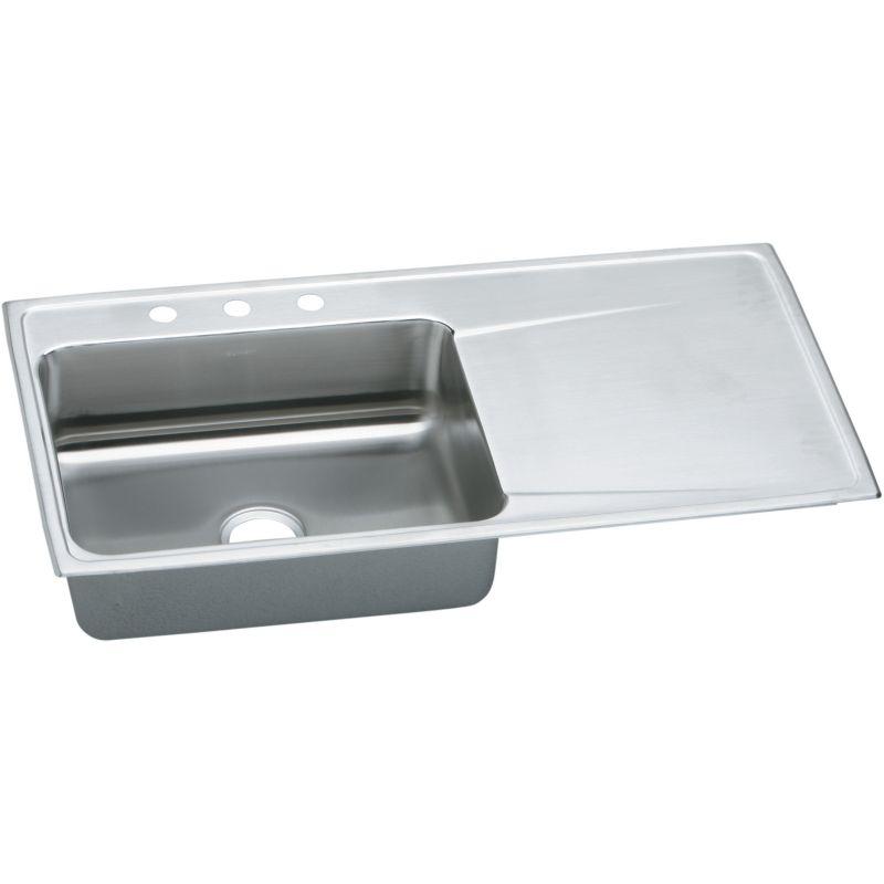 Elkay Lustertone Classic 43-In Stainless Steel 18 Gauge Single-Bowl Drop-In Sink