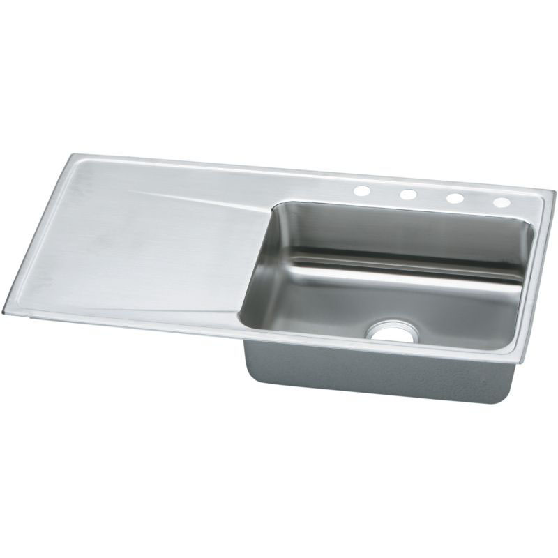 Elkay Lustertone Classic 43-In Stainless Steel 18 Gauge Single-Bowl Drop-In Sink