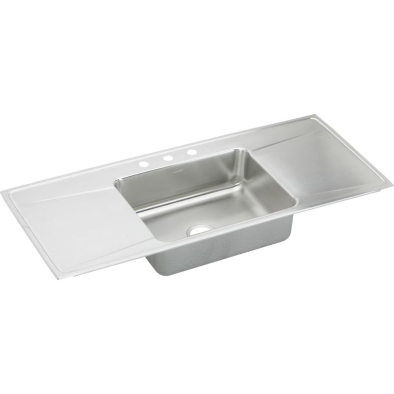 Elkay Lustertone Classic 54-In Stainless Steel 18 Gauge Single-Bowl Drop-In Sink