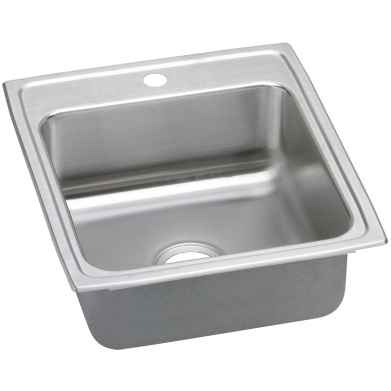 Elkay Lustertone Classic 15-In Stainless Steel 18 Gauge Single-Bowl Drop-In Sink