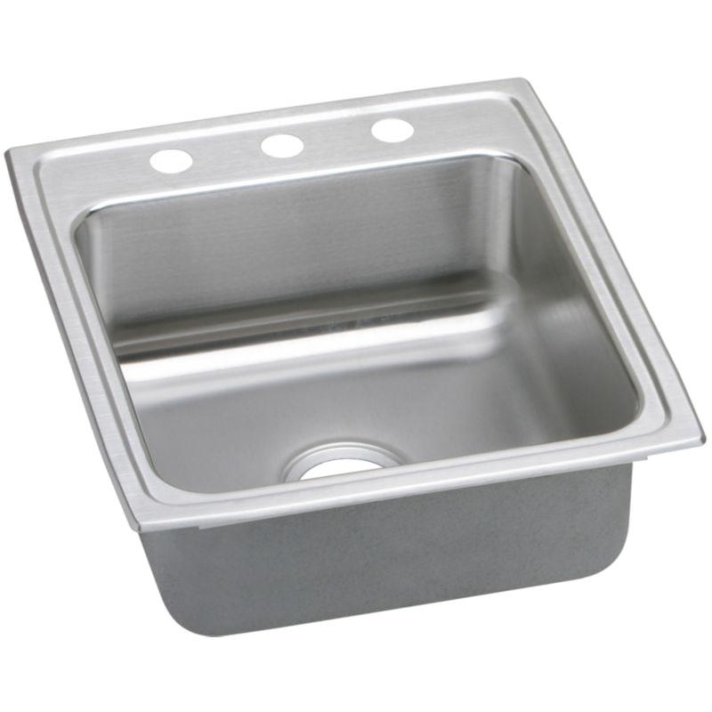 Elkay Lustertone Classic 15-In Stainless Steel 18 Gauge Single-Bowl Drop-In Sink