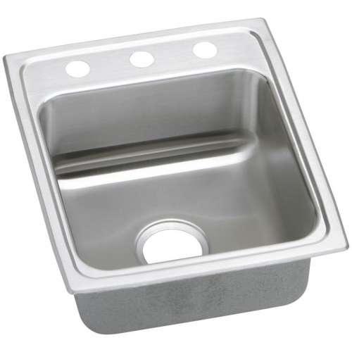 Elkay Gourmet Lustertone Stainless Steel Single-Bowl Top-Mount Sink